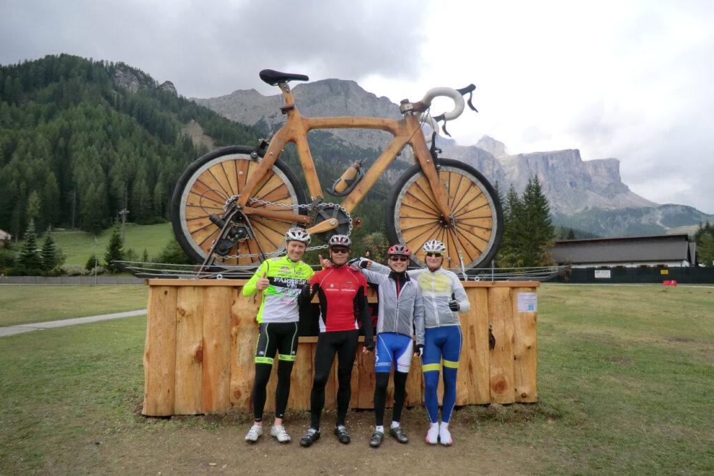 fietsen in de dolomieten